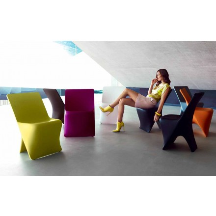 Garden chair Sloo by Vondom, modern design in polyethylene