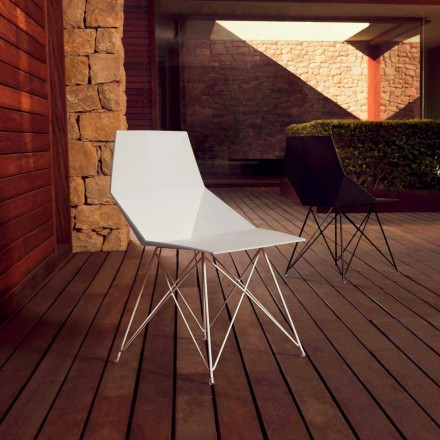 Modern chair Faz collection Vondom, polypropylene and stainless steel