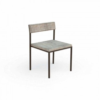 Casilda Talenti upholstered garden chair with stainless steel structure