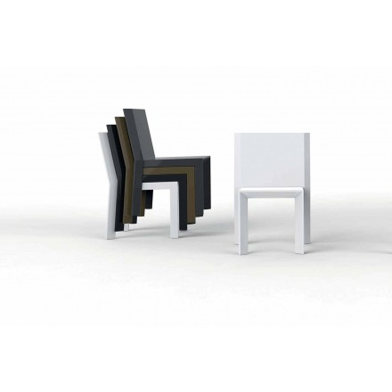 Outdoor chair Frame collection by Vondom, made with polyethylene, 2 pieces
