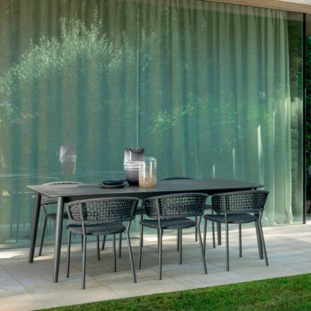 Moon Alu garden chair by Talenti, with aluminum and synthetic cord