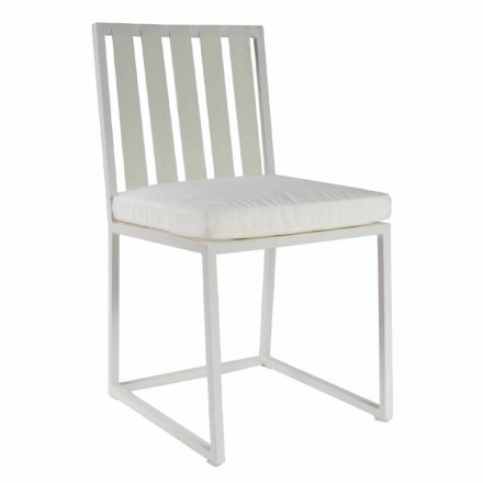 Outdoor Dining Chair in Aluminum and Luxury Design Rope 3 Finishes - Julie