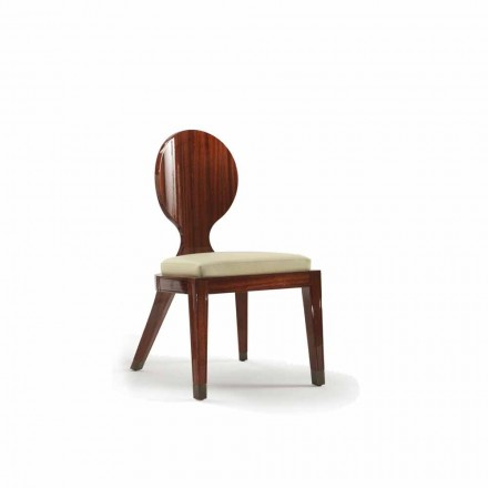 Upholstered dining chair Nicole in smooth wood 51x53 cm, modern design