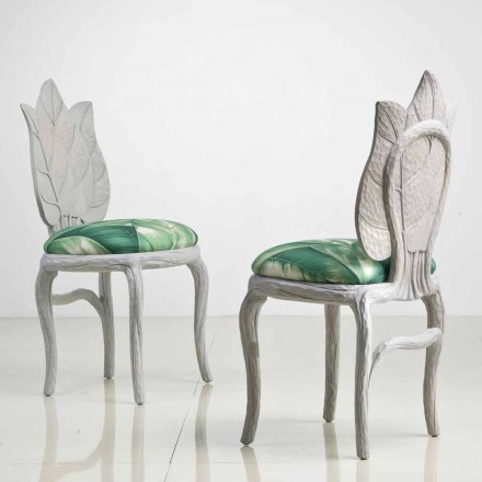 Upholstered dining chair Daniel, modern design made in Italy