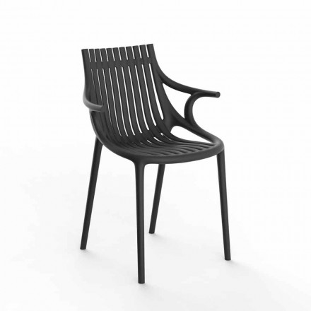 4-Piece Stackable Polypropylene Outdoor Dining Chair - Ibiza by Vondom