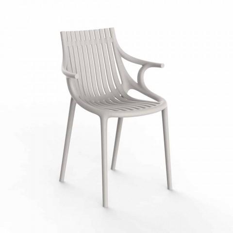 4-Piece Stackable Plastic Outdoor Dining Chair - Ibiza by Vondom