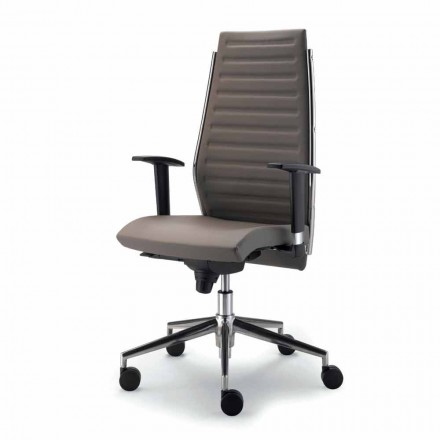 Full grain leather executive office chair Ester, modern design