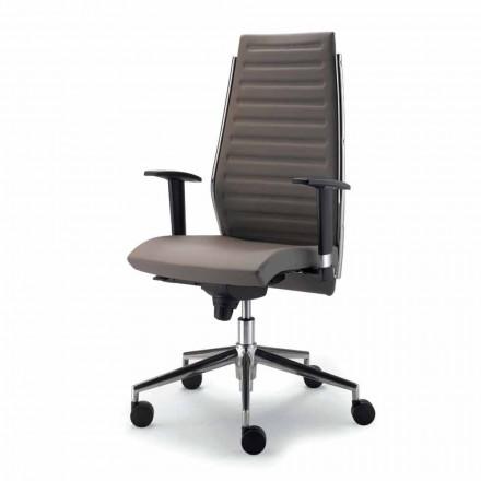 Full grain leather executive office chair Ester, modern design