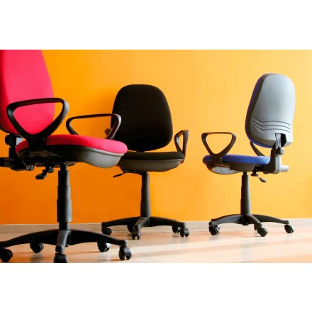 Ergonomic Rotating Office Chair with Armrests in Tissue – Concetta