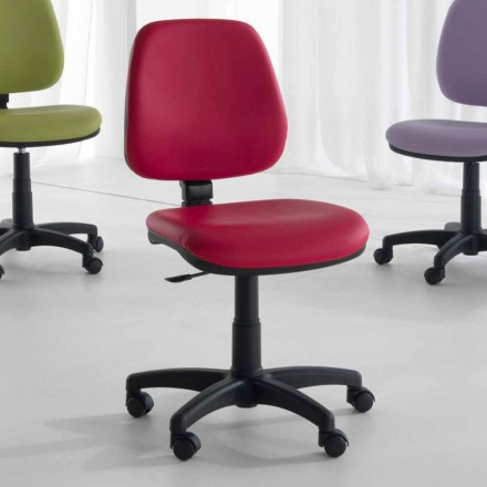 Rotating and Ergonomic Office Chair in Tissue and Eco-leather – Danila