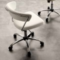 Modern Rotating Office Chair in Eco-leather and Metal - Gaspare