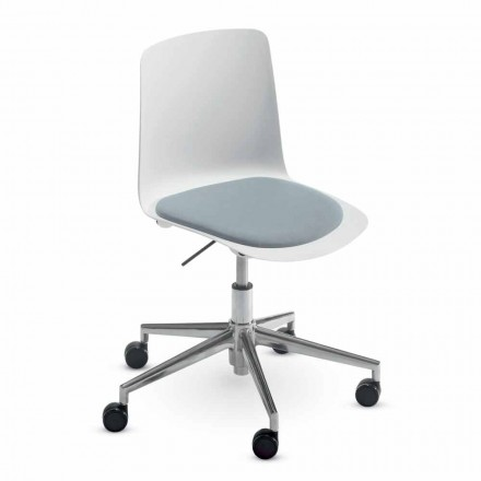 Office Chair in Aluminum and Polypropylene Made in Italy, 2 Pieces - Charita