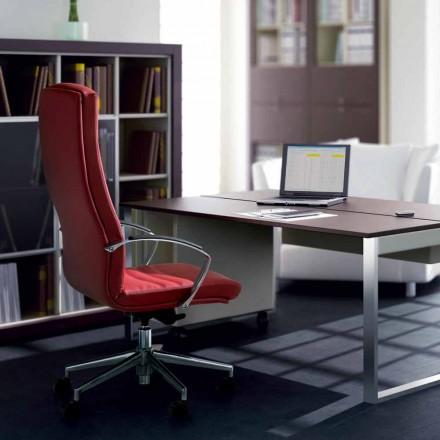 Full grain leather executive office chair Debora, modern design