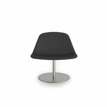 Office chair Llounge with round base, made in Italy by Luxy