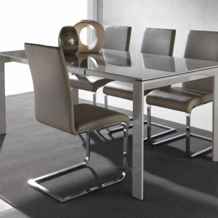 Modern design dining chair Sweet, with metal frame