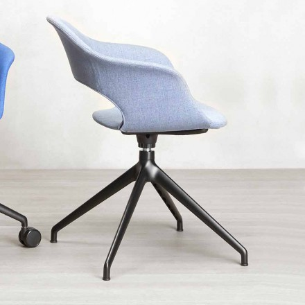 Padded Swivel Office Chair Made in Italy - Scab Design Lady B