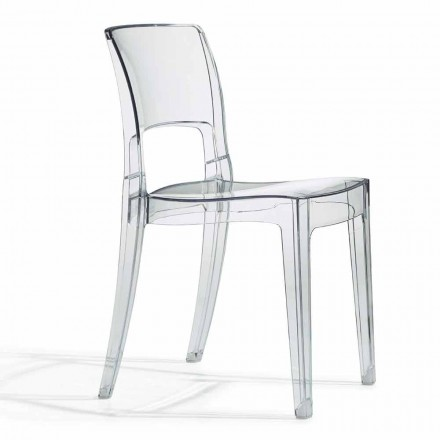 Outdoor Design Chair in Polycarbonate Made in Italy 4 Pieces - Scab Design Isy