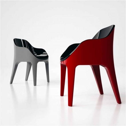 Modern design chair Pointer, made in Italy, made of Solid Surface