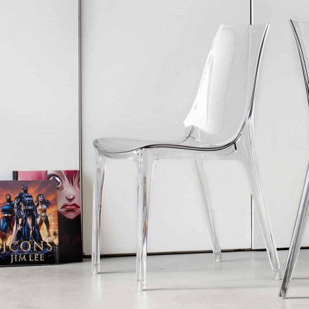 Modern Design Chair, Completely in Polycarbonate - Gilda