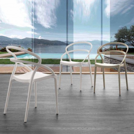 Modern design chair in polypropylene Pavia, different colors available