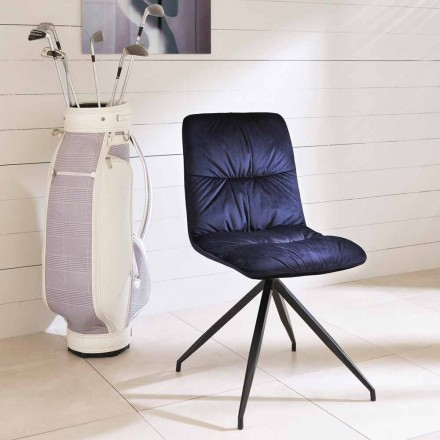 Modern design dining chair covered in fabric - Chiara