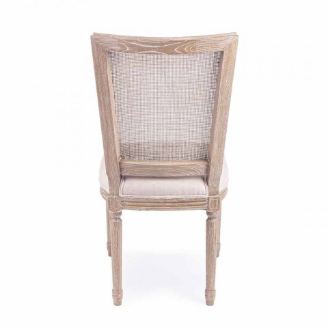 Classic Design Chair with Wooden Structure 2 Pieces Homemotion - Murea