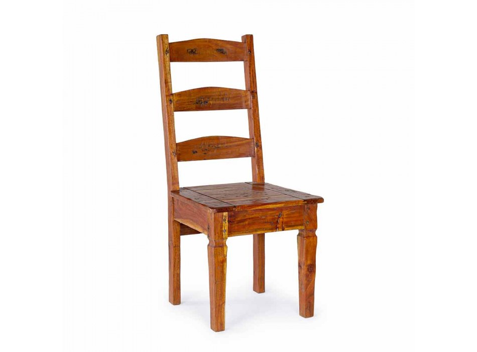 Classic Design Chair in Solid Acacia Wood Homemotion - Moritz