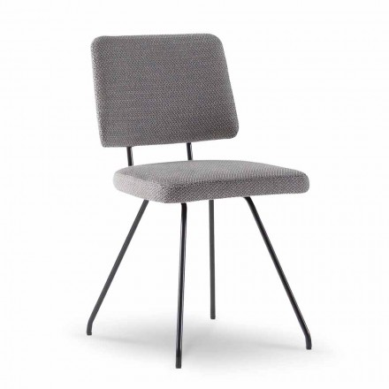 Design Chair in Fabric and Steel Made in Italy - Bahia S