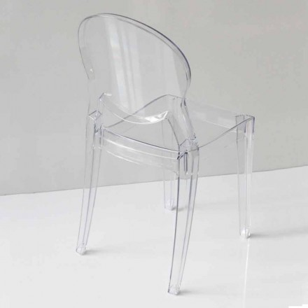 Modern Design Chair in Polycarbonate, in 2 Colors - Dalila