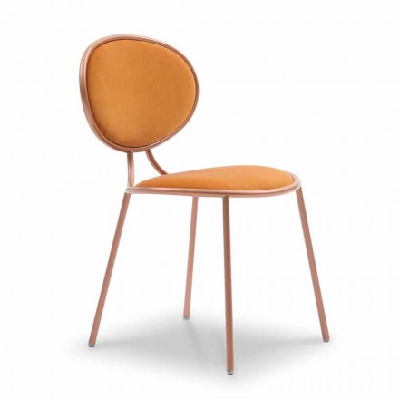 Modern Design Chair in Fabric and Metal Made in Italy - Otto
