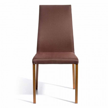 Design chair on tissue coated Amalia, H.96 cm, made in Italy