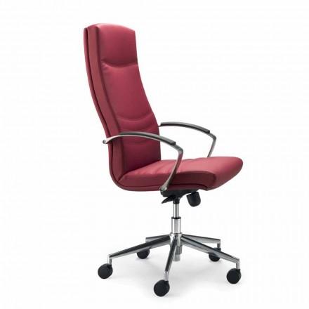 Monocoque faux leather office chair Debora, modern design
