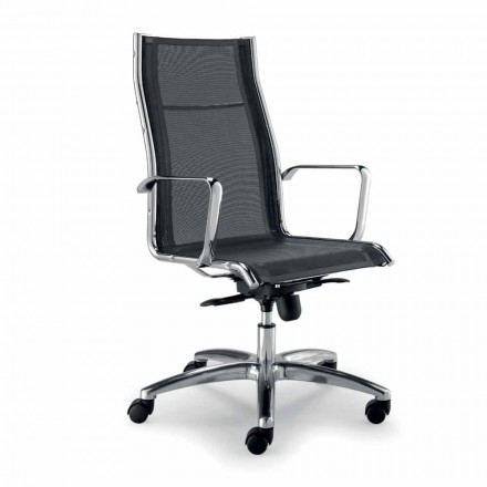 Design executive chair produced in Italy with single network Agata