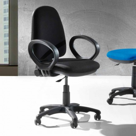Modern Rotating Office Ergonomic Chair in Eco-leather or Tissue – Calogera