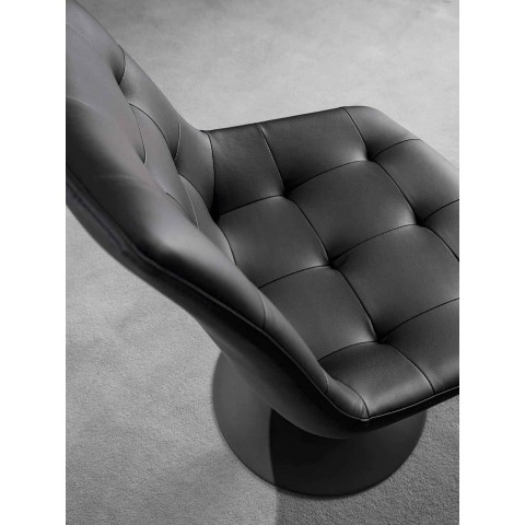 Swivel Chair, Capitonnè Processing Ecoleather Seat - Aura
