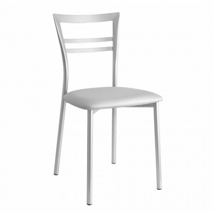 Upholstered Modern Design Kitchen Chair Made in Italy, 2 pieces - Go