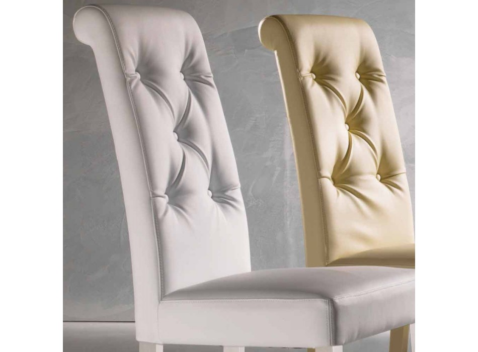 Upholstered Design Chair, with Capitonnè Processing - Diana