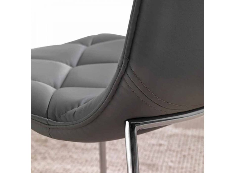 Kelly black eco-leather upholstered chair