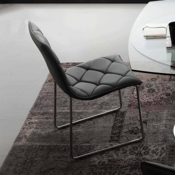 Kelly upholstered chair in black imitation leather