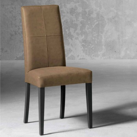 Modern lined chair in beech wood made in Italy, Ponza