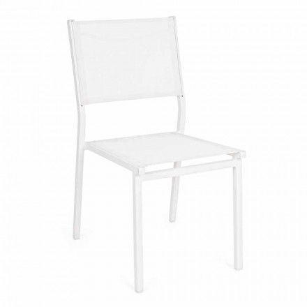Stackable Aluminum and Textilene Garden Chair, Modern Design - Franz