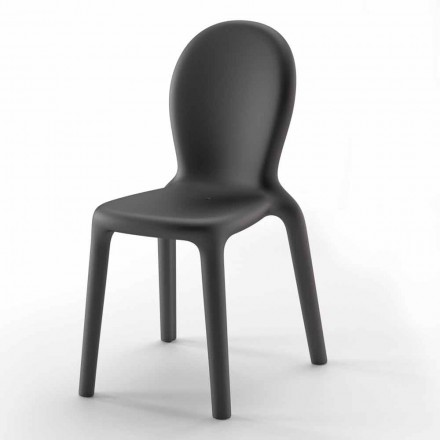 Stackable Chair in Colored Polyethylene Made in Italy, 2 Pieces - Jamala