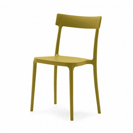 Indoor or Outdoor Stackable Chair in Polypropylene Made in Italy, 4 pieces - Argo