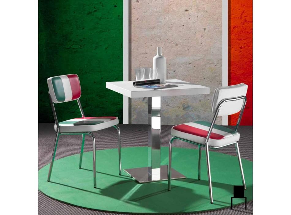 Eco-leather chair with Italian flag of Banda design