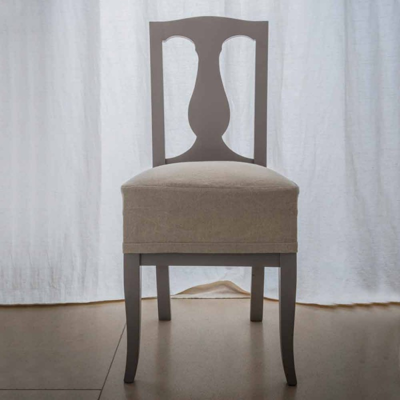 Chair in beech lacquered beech wood made in Italy, Kimberly