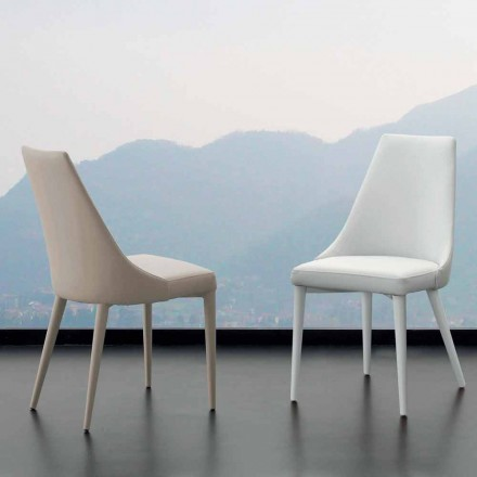Dining chair Nepitella, with eco-leather upholstery, modern design
