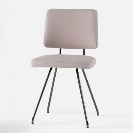 Design Made in Italy Padded Leather Chair - Bahia S