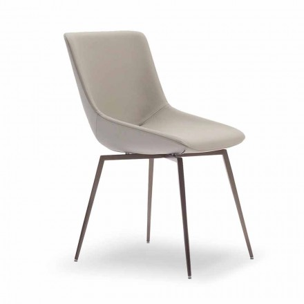 Modern Dining Chair with Leather Made in Italy - Bonaldo Artika