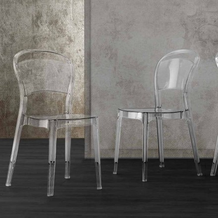 Modern Design Transparent Polycarbonate Chair - Yanis