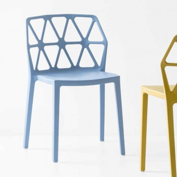 Connubia by Calligaris polypropylene chair Alchemia made in Italy